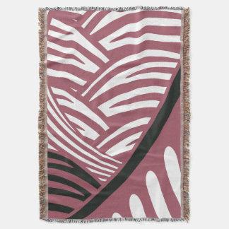 抽象的な日本語はピンク及び黒いブランケットを振ります スローブランケット