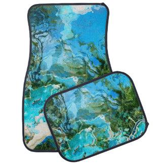 抽象的な日没礁の水 カーマット