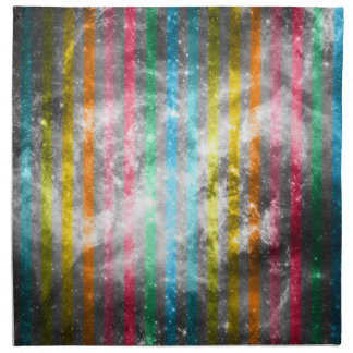 抽象的な星雲のMultiColorsのストライプなパターン ナプキンクロス