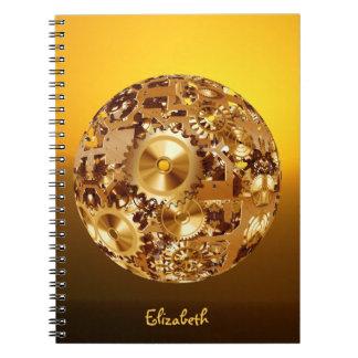 抽象的な時計のメカニズムのノート ノートブック