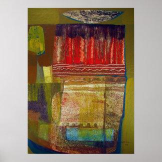 抽象的な景色ポトシ16.6x22.75 ポスター