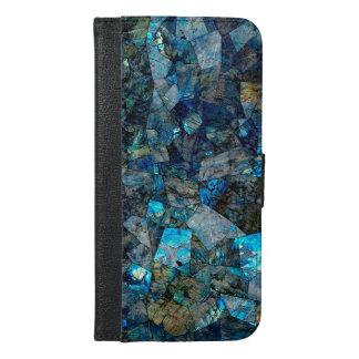 抽象的な曹灰長石のモザイクフォリオのウォレットケース iPhone 6/6S PLUS ウォレットケース