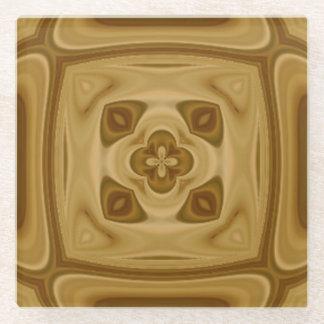 抽象的な木製パターン ガラスコースター