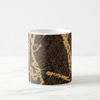 抽象的な木 コーヒーマグカップ