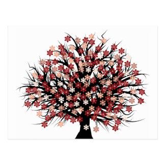 抽象的な木Hugger ポストカード