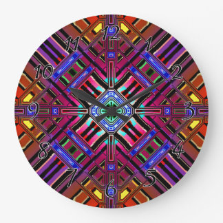 抽象的な未来派のフラクタル ラージ壁時計