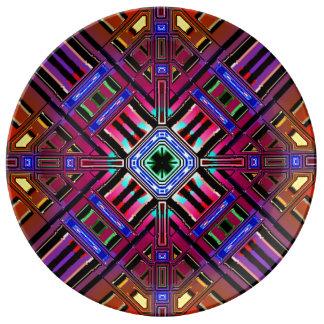 抽象的な未来派のフラクタル 磁器プレート