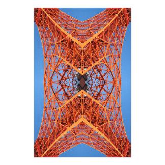 抽象的な東京タワーパターン 便箋