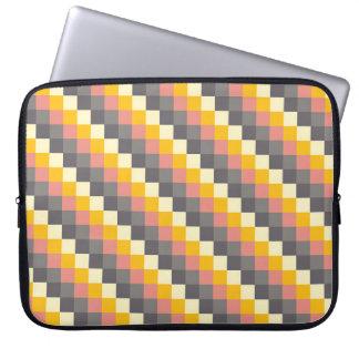 抽象的な格子色パターン ラップトップスリーブ