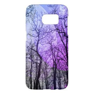 """抽象的な森林""""色""""の電話箱の紫色カスタマイズ SAMSUNG GALAXY S7 ケース"""