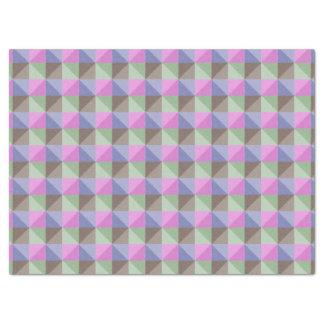 抽象的な正方形および三角形パターン 薄葉紙
