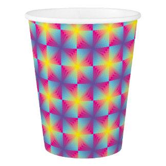 抽象的な正方形のベクトルモザイク 紙コップ