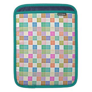 抽象的な正方形の多彩のモザイク iPadスリーブ