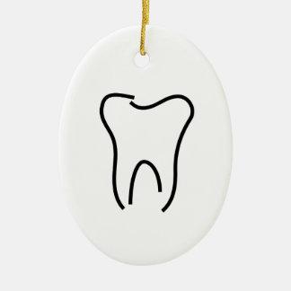 抽象的な歯のグラフィック セラミックオーナメント