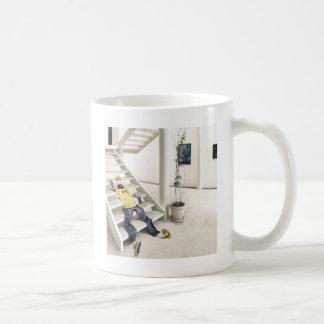 抽象的な毎日の上昇階段 コーヒーマグカップ