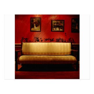 抽象的な毎日の素晴らしく芸術的なソファー ポストカード