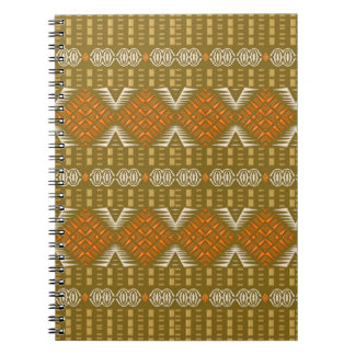 抽象的な民族の金幾何学的なパターン ノートブック