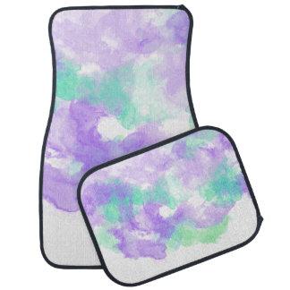 抽象的な水彩画のしぶきの薄紫の庭 カーマット