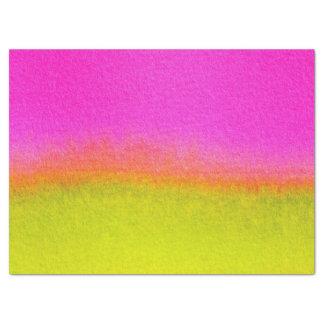 抽象的な水彩画のピンクのオレンジ緑 薄葉紙