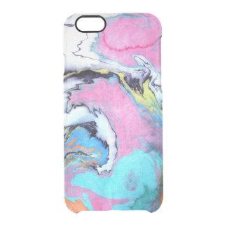 抽象的な水彩画の渦巻 クリアiPhone 6/6Sケース