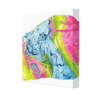 抽象的な水彩画の芸術のカラフル山 キャンバスプリント