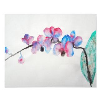 抽象的な水彩画の蘭 フォトプリント