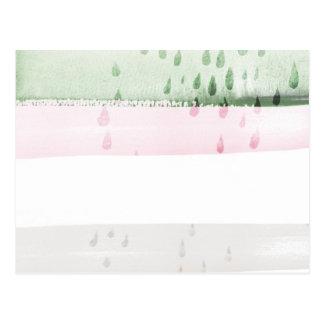 抽象的な水彩画 ポストカード