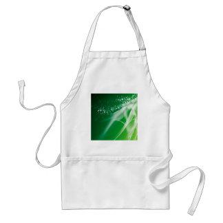 抽象的な水晶の緑のたそがれ スタンダードエプロン