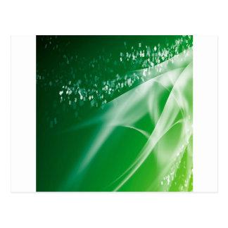 抽象的な水晶の緑のたそがれ ポストカード