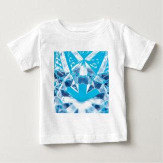 抽象的な水晶は壊れ目を反映します ベビーTシャツ