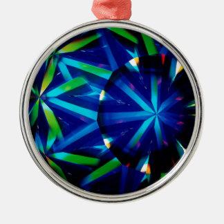 抽象的な水晶は明るいダイヤモンドを反映します メタルオーナメント