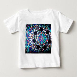抽象的な水晶は目を反映します ベビーTシャツ