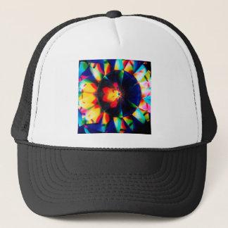 抽象的な水晶は花を反映します キャップ