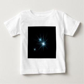 抽象的な水晶は輝きを反映します ベビーTシャツ
