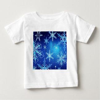 抽象的な水晶は雪の薄片を完成します ベビーTシャツ