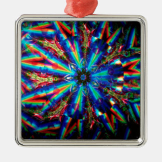 抽象的な水晶はDecoを反映します メタルオーナメント