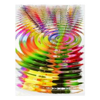 抽象的な水色のさざ波 ポストカード