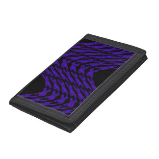抽象的な波の財布 ナイロン三つ折りウォレット