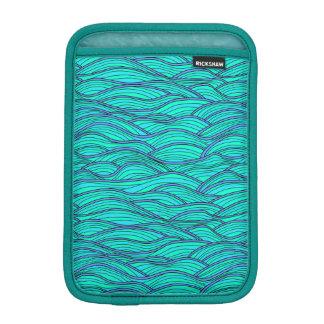 抽象的な波の質の袖 iPad MINIスリーブ