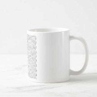 抽象的な波状のインドネシアの織物 コーヒーマグカップ