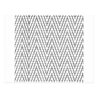 抽象的な波状のインドネシアの織物 ポストカード