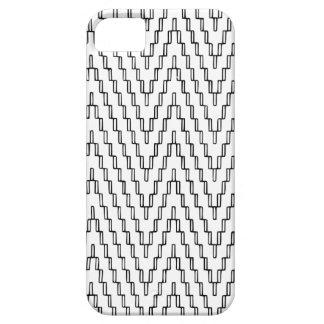 抽象的な波状のインドネシアの織物 iPhone SE/5/5s ケース
