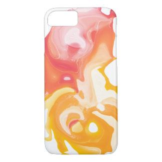 抽象的な流動オレンジ黄色の電話箱 iPhone 8/7ケース