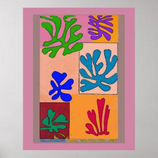 抽象的な海の珊瑚 ポスター