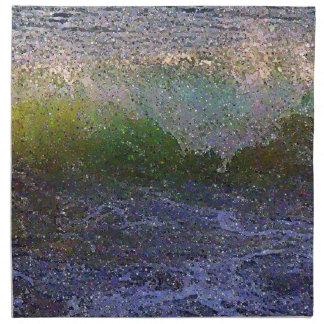 抽象的な海洋波 ナプキンクロス
