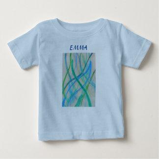 抽象的な混合メディアの草 ベビーTシャツ