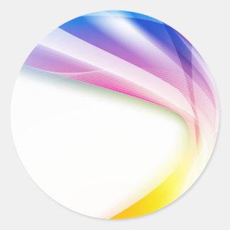抽象的な渦巻1 ラウンドシール