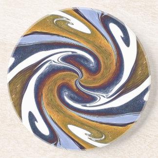抽象的な渦巻 コースター