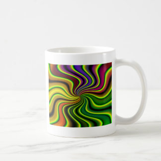 抽象的な渦巻 コーヒーマグカップ