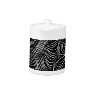 抽象的な滝のように落ちる白黒パターン